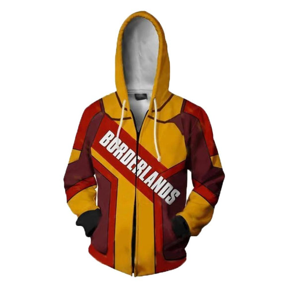 Unisex Borderlands 3 Assassin Zer0 Hoodies Sweatshirts Cosplay Costumes 3D Printed Jacket Sweatshirt