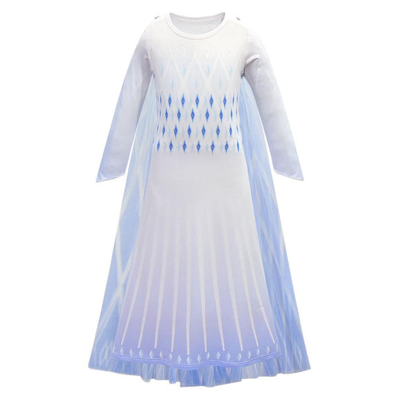 Girls Frozen 2 Cosplay Dresses Snow Queen Costumes Princess Elsa Dress Party Fantasia Clothing