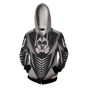 Rainbow Six Siege 3D Print Unisex Long Sleeve Hoodie Zip Up Jacket-Fandomsky