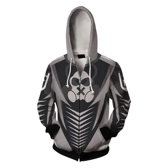 Rainbow Six Siege 3D Print Unisex Long Sleeve Hoodie Zip Up Jacket