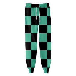 Unisex Kamado Tanjirou Sweatpants Demon Slayer: Kimetsu no Yaiba 3D Printed Long Sport Pants