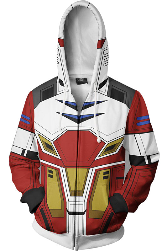 Anime Gundam Sweater Hooded Hoodie Cosplay Costume Jacket-Fandomsky