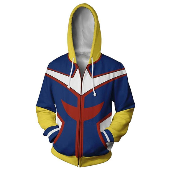 Boku No Hero Academia My Hero Academia All Might Hooded Jacket Sweatshirt-Fandomsky