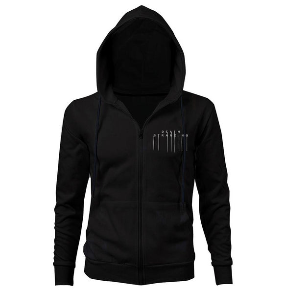 Death Stranding Adult Jacket Hoodies Halloween Cosplay Zipper Hooded Print Sweatshirt-Fandomsky
