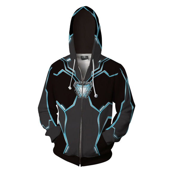 Avengers Infinity War Tony Stark Iron Man Jacket Hoodie Black-Fandomsky