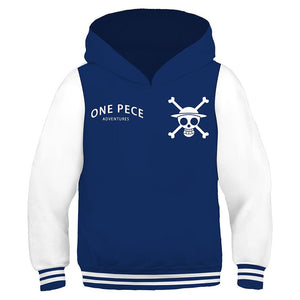 Kids One Piece Hoodie Hooded Pullover Sweatshirt Cosplay Costume