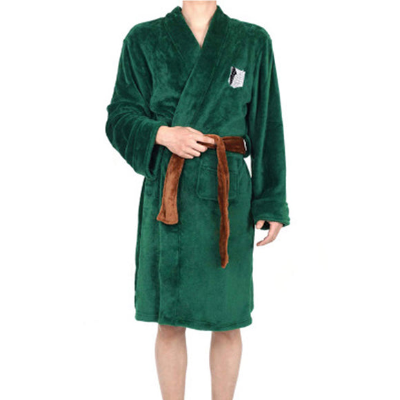 Attack On Titan Survey Corps Legion Cosplay Costume Levi Green Cloak Cape Bath Robe Long Coat-Fandomsky