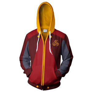 Unisex Azula Cosplay Hoodies Avatar: The Last Airbender Zip Up 3D Print Jacket Sweatshirt
