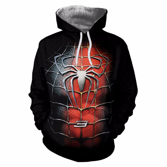 2018 Avengers Infinity War Spiderman Hoodie Spider-Man Coat Jacket New