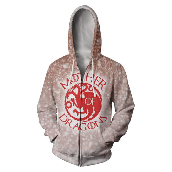 Game of Thrones Mother of Dragons Hooded Sweatshirt Hoodie-Fandomsky