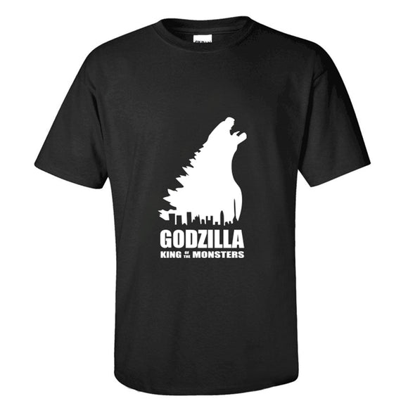 The Godzilla Logo T-shirts Casual T-Shirt for men and women-Fandomsky