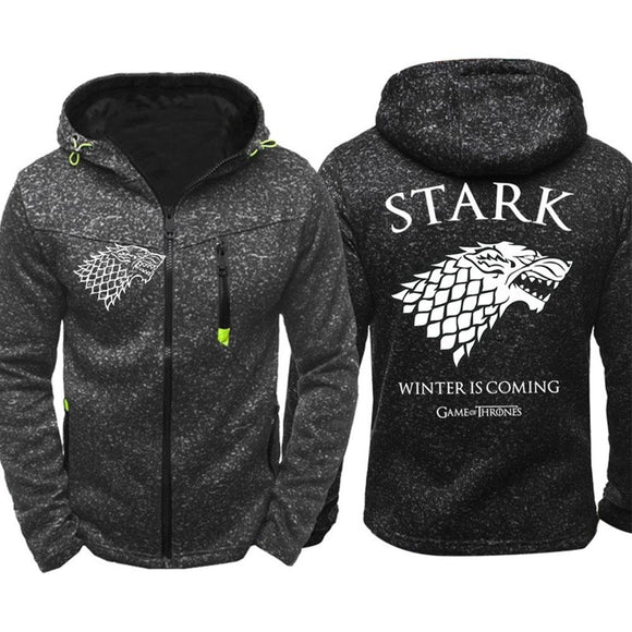 Game of Thrones House Stark Hoodies Men New Zipper Coat Sportswear-Fandomsky
