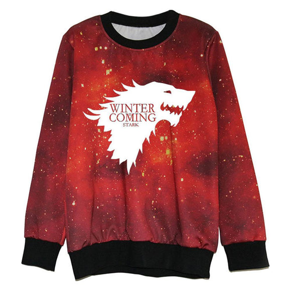 Game of Thrones House Stark Direwolf 3D Printed Sweatershirt-Fandomsky