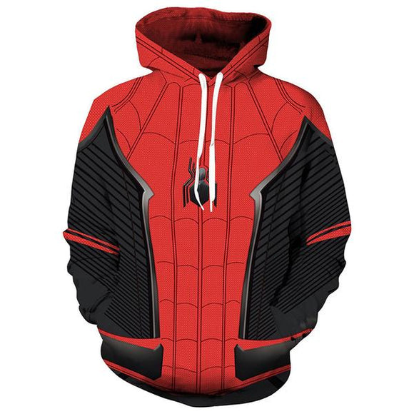Unisex Spider-man Hoodies Far From Home Pullover 3D Print Jacket Sweatshirt-Fandomsky