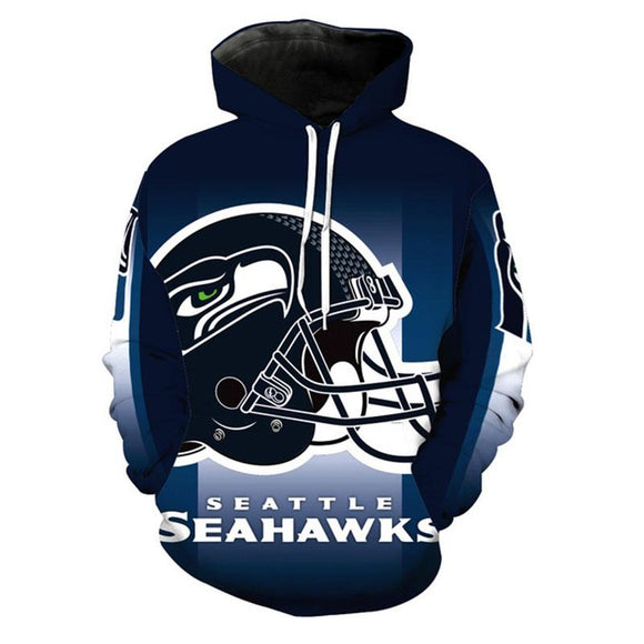 Unisex National Football League NFL Hoodies Seattle Seahawks Pullover 3D Print Jacket Sweatshirt