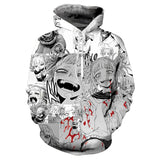 3D Print Anime Ahegao Hoodie Sweatshirt Men's Long Sleeve Pullovers Sweater