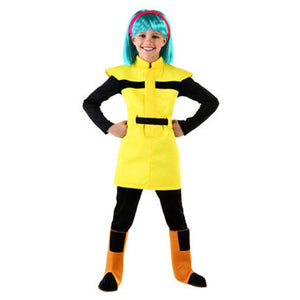 Dragon Ball Z Bulma Costume Suit Halloween Cosplay Costumes For Kids Wig Clothes Set Fancy Outfit