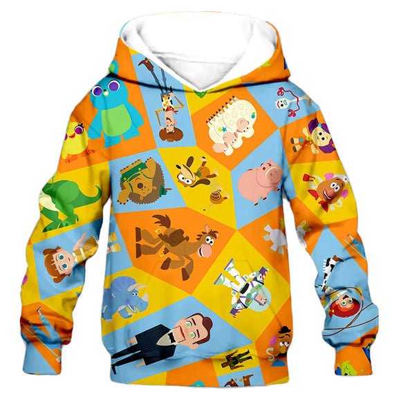 Kids Toy Story Hoodies Pullover 3D Print Jacket Sweatshirt-Fandomsky