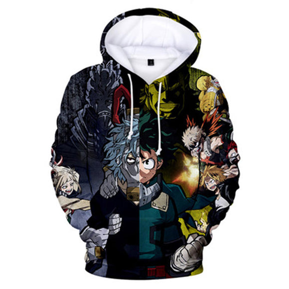 Unisex My Hero Academia Hoodie 3D Print Season 4 Hooded Casual Sweatshirt