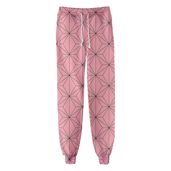 Unisex Kamado Nezuko Sweatpants Demon Slayer: Kimetsu no Yaiba 3D Printed Long Sport Pants