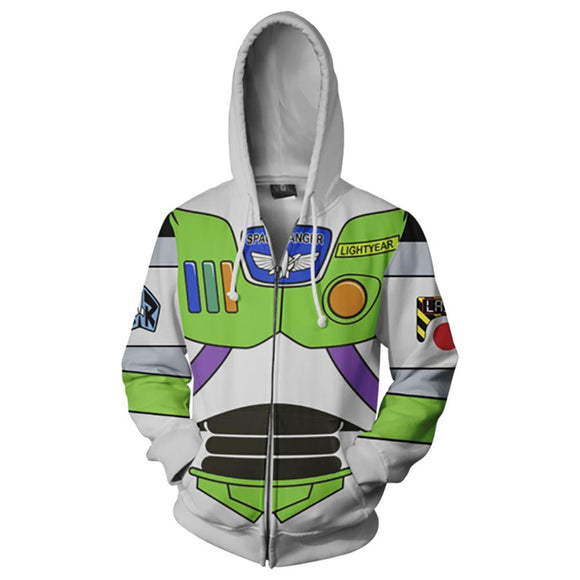 Disney Buzz Lightyear Toy Story Hoodie For Halloween Cosplay