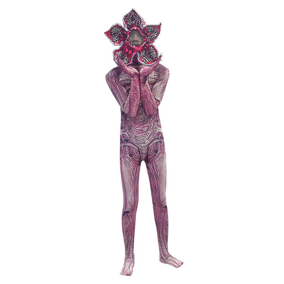 Adult Stranger Things Season 3 Demogorgon Halloween Cosplay Costume Dress Up Party Jumpsuit