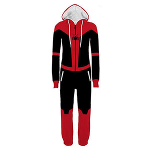 Halloween Spider-Man: Far From Home Pajamas Cartoon Onesie Hooded Pajamas Cosplay Costume