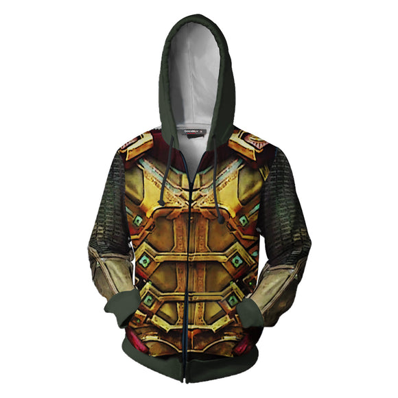 3D Print Unisex Spider-Man: Far From Home Mysterio Hoodie Zipper Up Jacket-Fandomsky