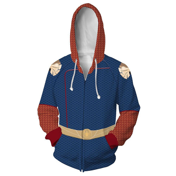 Unisex Homelander Hoodies The Boys Zip Up 3D Print Jacket Sweatshirt