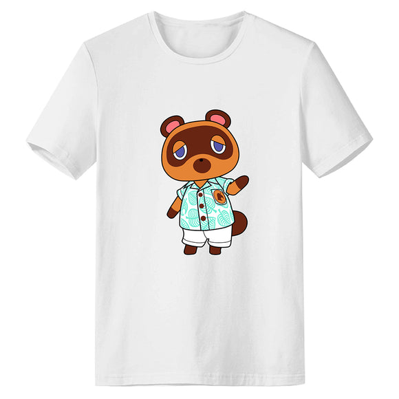 Unisex Animal Crossing T-shirt Tom Nook Printed Summer O-neck T-shirt Casual Street Shirts