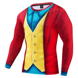 2019 Movie Joker Joaquin Phoenix Arthur Fleck Cosplay Costume Halloween 3D Printed Compression T-shirt Finess Quick-Drying Tight Tops