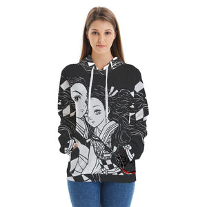 Unisex Demon Slayer: Kimetsu no Yaiba Hoodies Tanjirou Nezuko Print 3D Hoodies Casual Sweatshirt