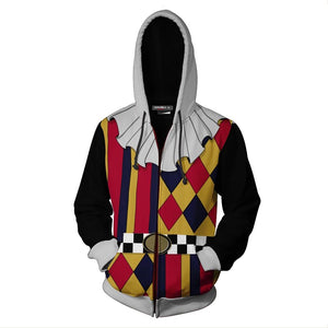 Unisex Howard Jester Wolowitz Hoodies The Big Bang Theory Zip Up 3D Print Jacket Sweatshirt