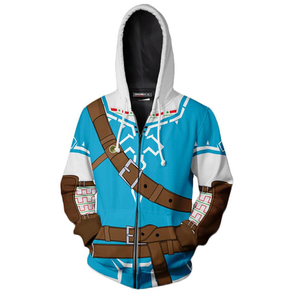 The Legend of Zelda Hoodie Link Jacket Breath of The Wild Costume Cosplay Sweatshirt-Fandomsky