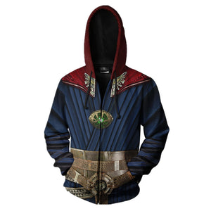 Doctor Strange Super Hero Costume Autumn and Winter Hoodie Creative Sweater for Halloween