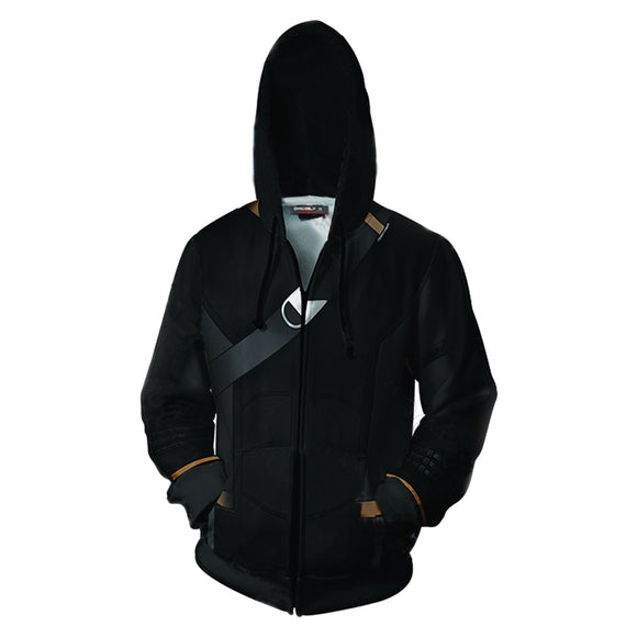 Avengers Endgame Hawkey Hoodie Hooded Sweatshirt Cosplay Costume