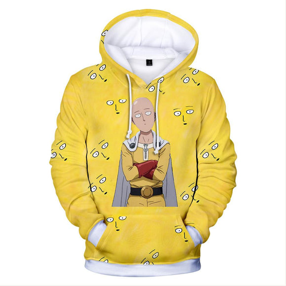 One Punch Man Anime Hoodie for Men Long Sleeve Hoodie-Fandomsky