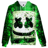 Unisex Marshmello 3D Print Boy Hoodie Kids Fashion Popular Sweatshirt-Fandomsky