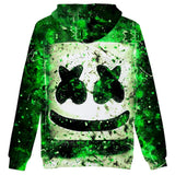 Unisex Marshmello 3D Print Boy Hoodie Kids Fashion Popular Sweatshirt
