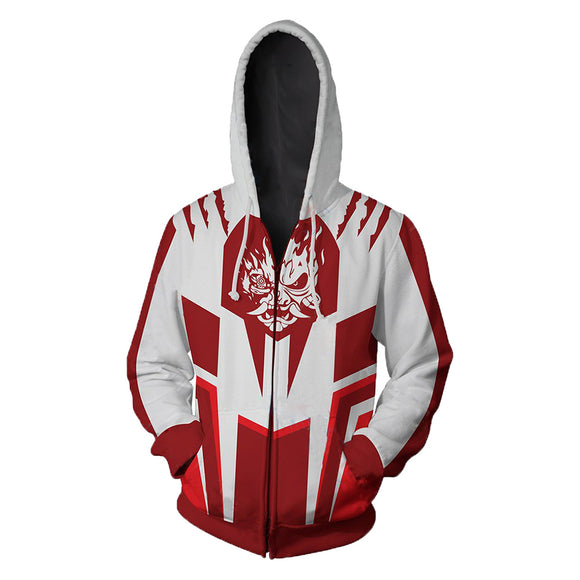 Unisex Hoodie Jacket Cyberpunk 2077 series Zipped Printed Cosplay Costume