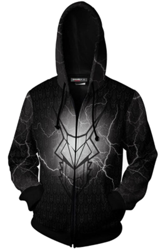 Game of Thrones Official Mens Metallic Tagaryen Hoodie-Fandomsky