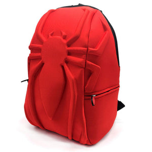 Spider-Man Logo 3D Stereo Feeling Backpack New Leisure Laptop Bag Teenagers Student School Bag