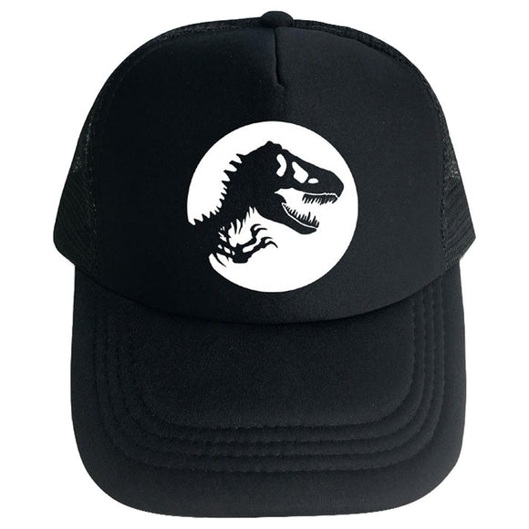 Jurassic Park Movie Logo Trucker mesh Black caps Hats-Fandomsky