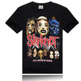 Slipknot Mens T Shirt Black Skeptic Masks Band Logo Official-Fandomsky