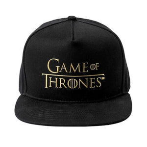 Game of Thrones Logo Embroidered Hip-hop Sun Shade Baseball Cap-Fandomsky