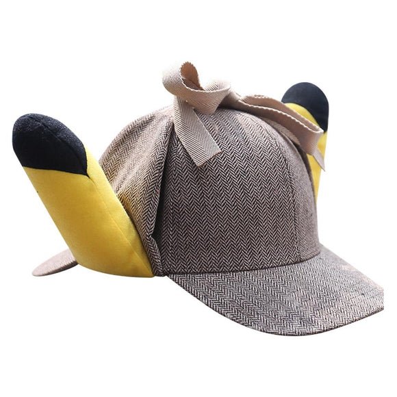 Pokémon Detective Pikachu hat Fairy Treasure Dream cos Ear hat Cute Funny Sunshade Sun hat-Fandomsky