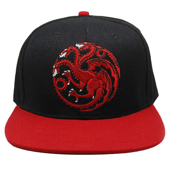 Game of Thrones Targaryen Dragon Sigil Strapback Baseball Cap Hat-Fandomsky