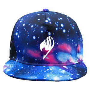 Fairy Tail Hat Starry Galaxy Adjustable Cap One Size Fits Most-Fandomsky