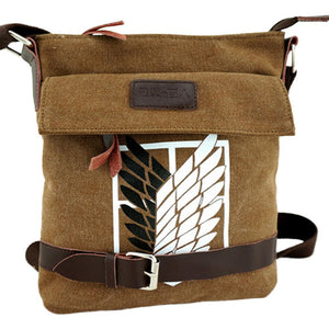 Attack On Titan : Wings Of Freedom Crossbody Bag For Work School Travel Canvas-Fandomsky