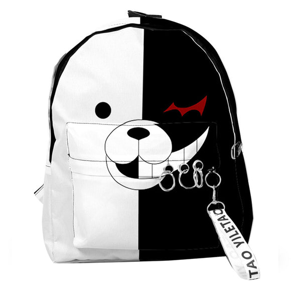 Danganronpa: Trigger Happy Havoc Monokuma Backpack Student School Bag Anime Fans Gift Travel Backpack Daypack